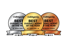 Logo for the 2018 agent awards allagents