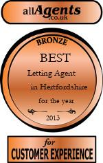 2013 Best Letting Agent in Hertfordshire