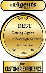 2013 Best Letting Agent in Budleigh Salterton