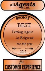 2013 Best Letting Agent in Edgware