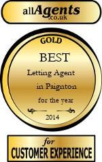 2014 Best Letting Agent in Paignton
