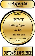 2015 Best Letting Agent in TR7